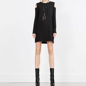 ZARA cut out shoulder dress